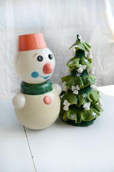 Roly Poly Doll Nevalyashka snowman Vintage RolyPoly