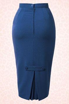 Jahre Joni Rock in Navy - # - Chance - Skirt Pencil Dress Outfit, Pencil Skirt Casual, Pencil Skirt Outfits, Denim Pencil Skirt, High Waisted Pencil Skirt, Blazer Outfits, Fall Outfits, Pencil Skirts, Denim Skirt