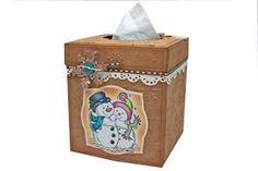 Splitcoaststampers - Tissue Box Cover tutorial by Diane Zechman  @Spellbinders