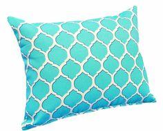 Geometric Turquoise Blue Outside or Inside Decorative Pillows - Etsy - PillowThrowDecor Turquoise Throw Pillows, Blue Cushions, Patio Pillows, Outdoor Throw Pillows, Accent Pillows, Pool House Decor, Blue Cushion Covers, Pillow Covers, Blue Patio
