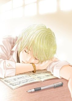 *he'd fallen asleep at his desk again, and our teacher was glaring at him, 2 seconds from calling him out.* hey. *i whispered, poking him lightly. He startles awake and grabs his notes. Except.. They aren't notes. I get a second glance at them, and it's pages of sheet music. Music he's been writing.* (open roleplay! Credit to @deirdremarie101)