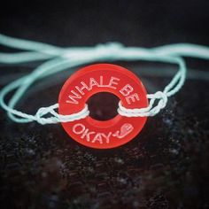 Whale be okay  in red with our new teal strings   #lifetoken