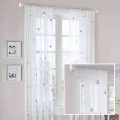Lily Allover Rod Pocket Flower Single Curtain Panel (Set of 2)