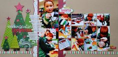 Kindergarten Christmas party page - super cute!