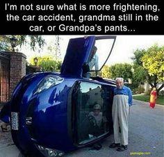 Funny Meme About Grandpa vs. Car