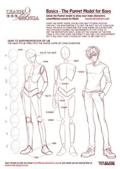 anime / manga male body