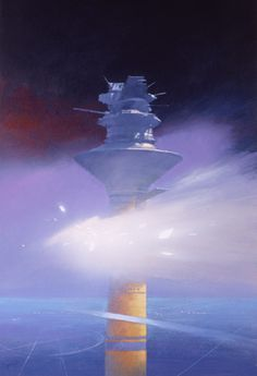JOHN HARRIS - art for Driftglass/Starshards by Samuel R. Delany - 1993 Grafton Books