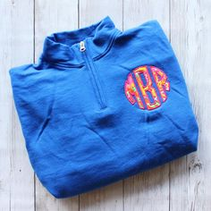 MONOGRAMMED LILLY PULITZER WHALE QUARTER ZIP PULLOVER