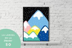 La lámina de esta semana es colorida y tiene unas montañas como protagonistas
