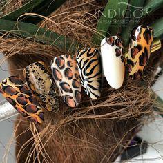 Installation of acrylic or gel nails - My Nails Tiger Nails, Leopard Nails, Tiger Nail Art, Snake Skin Nails, Diy Nails, Cute Nails, Pretty Nails, Animal Nail Art, Nail Swag