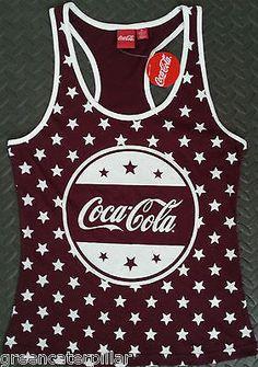 Primark Coca Cola Coke PJ Pyjama T-Shirt Vest OFFICIAL Size 10-20 NEW VEST ONLY