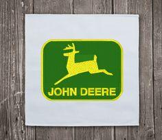 John Deere logo 1- Embroidery Design Instant Download #EmbroideryDownloadCom