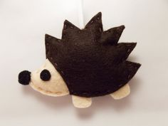 Hedgehog Felt Ornament by brazzlefrats on Etsy