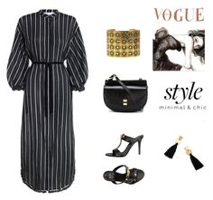 """""""Black Stripes for Summer"""" by scolab ❤ liked on Polyvore featuring Zimmermann, Versace, Chloé, Chanel and Madewell"""