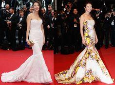 Zhang Yuqi In Roberto Cavalli & Monique Lhuillier - Cannes Film Festival Premieres