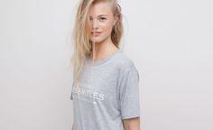 Pull&Bear - dames - pacific girls - t-shirt met print - vigo grijs - 05242316-V2015