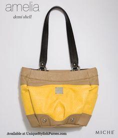 Unique Stylish Purses   Miche Bags  Miche Amelia Shell for Demi Bags Yellow  Purses, 384cf3fae9