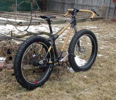 Diller Designs bamboo and carbon fiber fat bike with Lefty fork, inspired by Boo and Bamboo Bike Studio