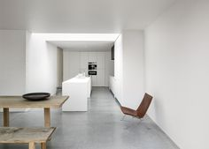 MK House is a minimal residence located in Antwerp, Belgium, designed by Nicolas Schuybroek Architects.