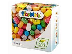 PlayMais  PlayMais maakt van leren een kinderspel! De bonten bouwstenen hoeven slechts met een nat doekje vochtig gemaakt te worden en plakken dan aan elkaar en de pret begint! en dat allemaal zonder lijm! PlayMais stimuleert en ontwikkelt de fijne motoriek, want PlayMais kan gemakkelijk met de handen worden gevormd, verdeeld, of gerold. Het plakt op papier en karton, en zelfs op glas voor venster versieringen!
