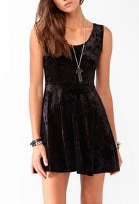 Velveteen Skater Dress, Forever21