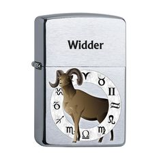 Zippo mit Sternzeichen Widder Lighter, Retro, Collection, Atelier, Aries, Astrology Signs, Stars, Retro Illustration, Mid Century