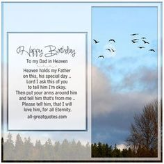 Happy Birthday To My Dad In Heaven - Heaven holds my Father | all-greatquotes.com