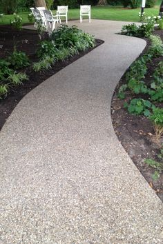 Exposed aggregate patio in Indiana by Hanson