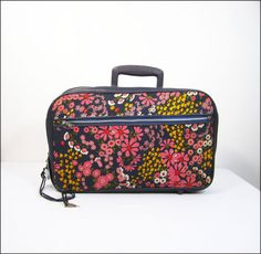 1960s pink floral little girl's suitcase by OmniaWears on Etsy