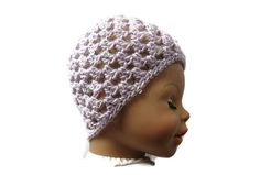 Baby Hat Mauve Bling Sparkly Sequins Crochet 0 - 3 months Handmade in Ireland Crochet Baby Clothes, Crochet Hats, Baby Style, Baby Hats, 3 Months, Mauve, Originals, Little Girls, Ireland