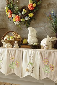 It's not every day that you can make over your mantel in two shakes of a bunny's…