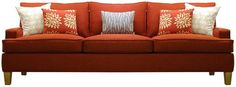 """96"""" Wide Sofa from PURE Inspired Design; leg shape, arm height, length, color, all good x always prefer bench seat over cushions"""