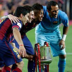 Neymar vira artilheiro, e Barça leva 27ª Copa do Rei