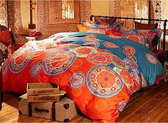 Luk Oil Home Textiles Chinese Style Quilt Cover Sets Bohemian 4pcs Bedding Sets,soft,breathable Boho Duvet Cover Sets Queen Size (1 Duvet Cover, 1 Bed Sheet, 2 Pillow Cases) (Queen, 1) Luk Oil http://www.amazon.com/dp/B00XRPM77E/ref=cm_sw_r_pi_dp_Lb3Bvb13QB219