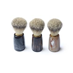 Each Merchant Fox shaving brush is unique, using the finest super badger bristle brush with the wonderful natural material of horn for the handle. A wet-shavers perfect gift. Badger Shaving Brush, Brand Store, Gifts For Father, Natural Materials, Horns, Fox, Handle, Unique, Beauty