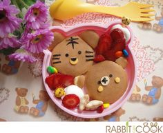 Tiger and Teddy pancake