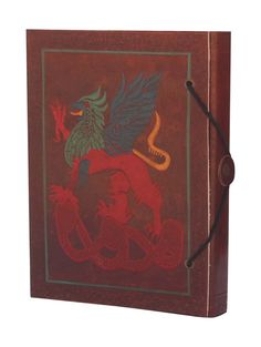 Bulk Wholesale 5.2x7 Inch Handmade Brown Color Writing Journal / Scrapbook in a Leather Cover with Colorful & Embossed Dragon Motif – Secured by a Thread-Button Closure – Unique Travel Diaries / Sketchbooks / Notebooks