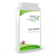 Acai Berry 1000mg x 120 Vegetarian Capsules, encourage energy production #HealthCare Green Lipped Mussel, Save Mother Earth, Magnesium Citrate, Diy Clothes And Shoes, Blood Vessels, Healthy Body Weight, Acai Berry, Pain Relief, Active Ingredient