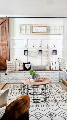 Boho Living Room, Small Living Rooms, Living Room Decor, Small Laundry Rooms, Paint Colors For Living Room, Living Room Remodel, Baby Boys, Farmhouse Chic, Antique Farmhouse