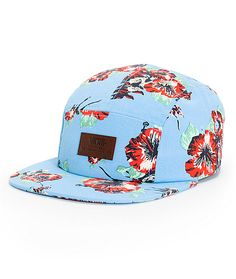 2eefe072287cc2 Grab a fresh new Jedi look with a floral Aloha Yoda print on a blue camper.  Vans logo5 panel hatLeather vansCamperNice dressesStar WarsTruck ...