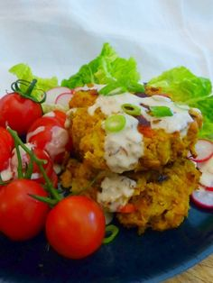 Indian Spiced Chickpea & Cauliflower Patties