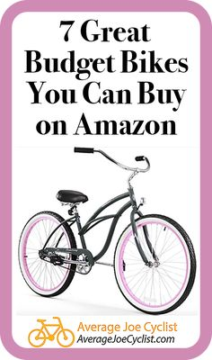 Reviews, comparative chart, and videos to tell you all about 7 great budget bikes you can buy on Amazon, including Cruisers, Mountain bikes, Hybrid bikes, Road Bikes, and Comfort Bikes. Take advantage of Amazon's excellent delivery and return policies! Some reputable brand name bikes are available on Amazon, so there are some great options available. Post includes Pro Tips on how to buy bikes from Amazon. #AverageJoeCyclist #Amazon #BuyingBikes #cyclists #cycling Bicycle Workout, Cycling Workout, Hybrid Bikes, Buy Bicycle, Average Joe, Cycling Tips, Bike Reviews, Cyclists, Training Plan