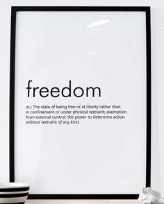 FREEDOM http://etsy.me/2lm1doG #Etsy #Etsyshop #WallArt #HomeDecor #Printable #Quote #Inspirational #Motivational #Cheap #EtsyFinds #EtsyForAll #Stampe #Prints #Decor #EtsyHunter #etsyseller #art #black #instalove #instalike #Freedom #Dictionary #Definition #HomeDecor #Poster