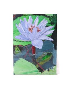 Original acrylic painting, Water Lily by EclecticWandering, $75.00 USD