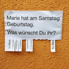 Sind uns nicht sicher ob wir Marie  am Samstag finden aber einen guten Wunsch für sie nehmen wir mit. #wish #wunsch #ingolstadt #geburtstag #birthday