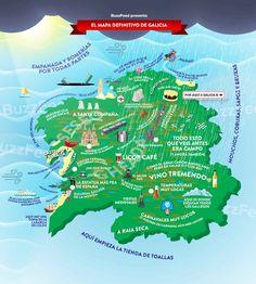 El único y definitivo mapa que necesitarás para entender Galicia