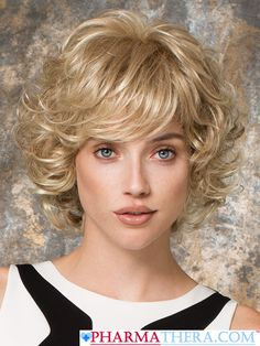 Gina Mono Synthetic Wig by Ellen Wille color Champagne Rooted https://www.pharmathera.com/gina-mono-women-wig-synthetic-hair-short-curly-by-ellen-wille