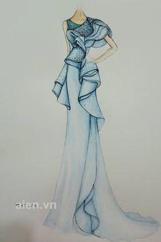 Đã lưu các Ảnh                                     Dress Design Drawing, Dress Design Sketches, Fashion Design Sketchbook, Fashion Design Portfolio, Dress Drawing, Fashion Design Drawings, Fashion Sketches, Dress Illustration, Fashion Illustration Dresses