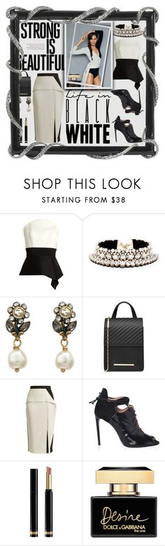 """""""That Black Cat"""" by ann-kelley14 ❤ liked on Polyvore featuring Roland Mouret, Shourouk, Gucci and Dolce&Gabbana"""