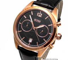 HUGO BOSS Black Chronograph Herren Chrono Uhr 1512746 rose Gold Uhren NEU